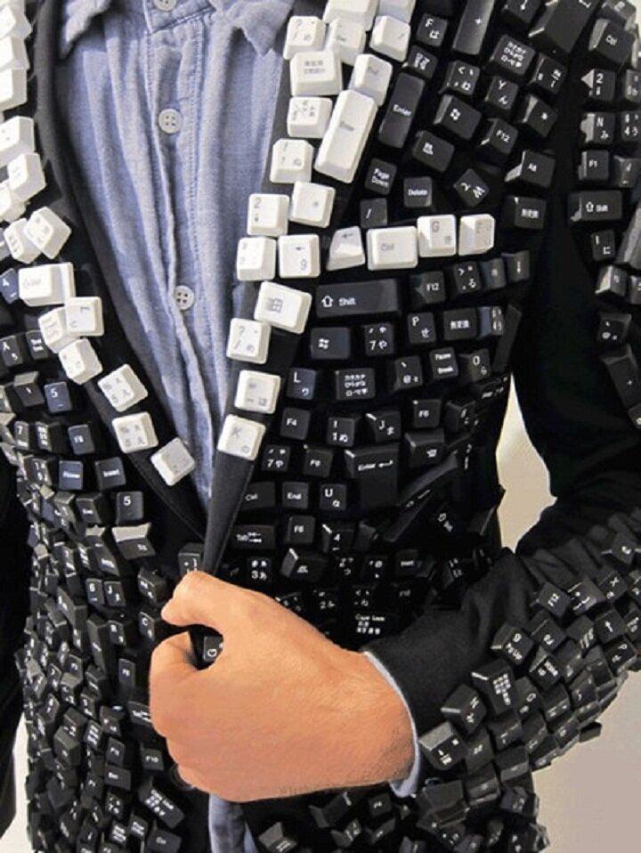 7. Пиджак программиста горе модники, дизайн, мода, смешно, трэш, фото