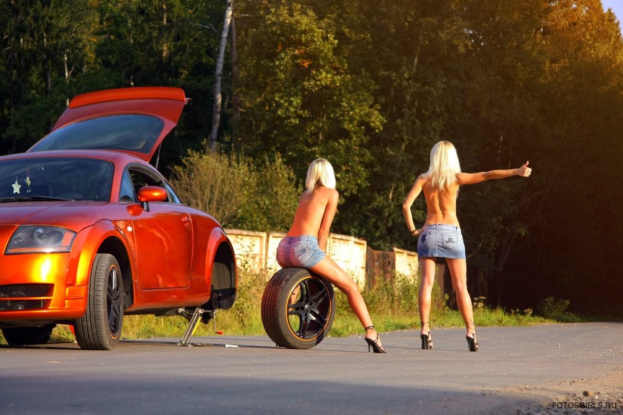 Прикольные картинки на машину девушке