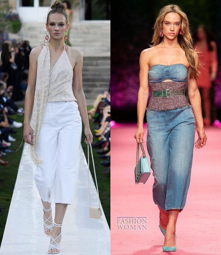 Модные джинсы весна-лето 2019 фото №20