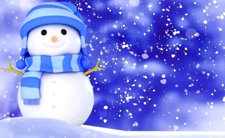 Трафареты снеговиков