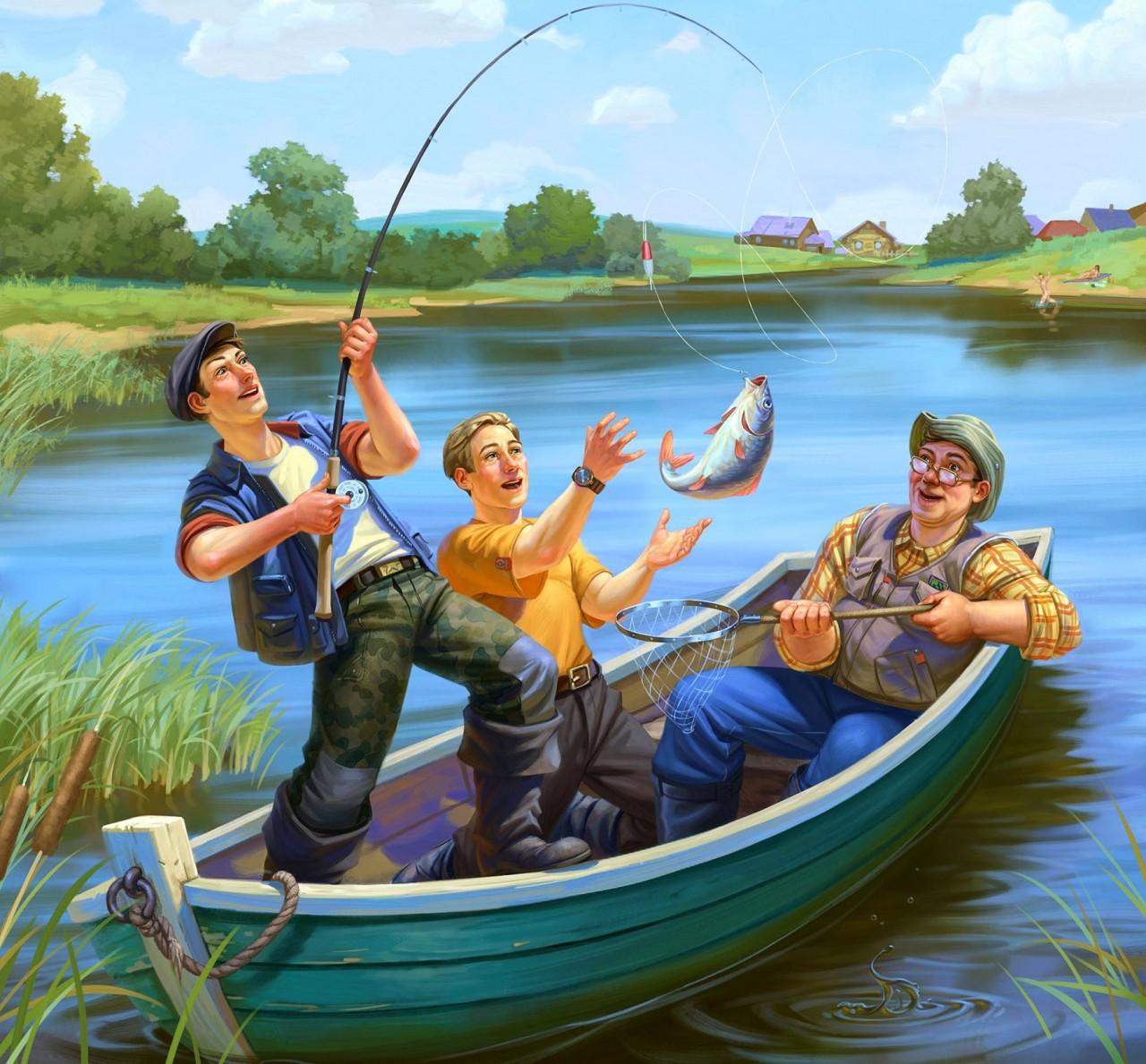 Открытки о рыбалки, картинки для