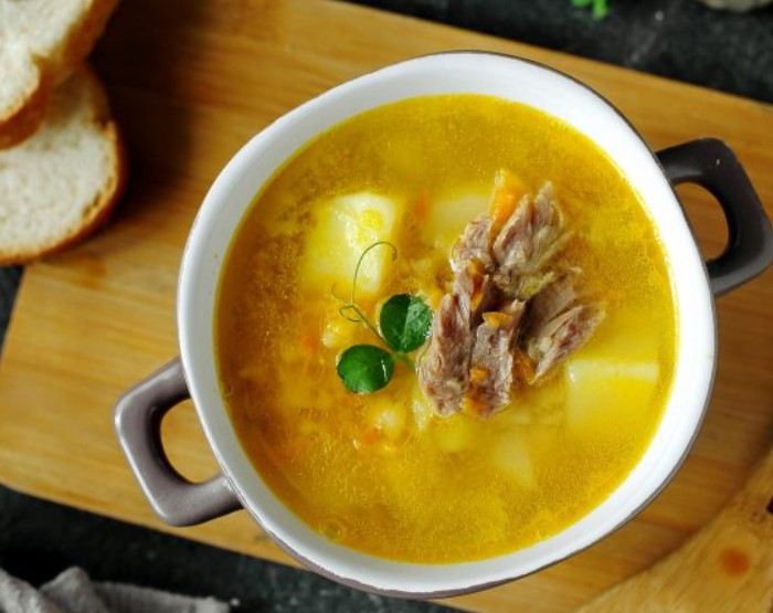 Гороховый суп с карри