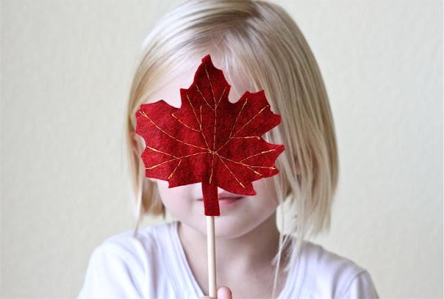 Осенний декор: листья из фетра