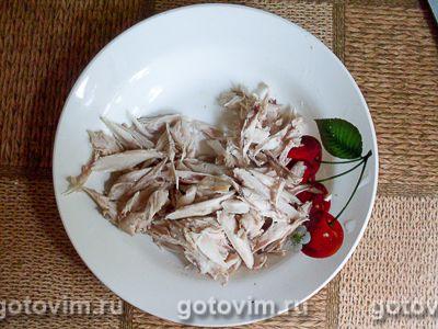 Песочный пирог с курицей, картофелем и черемшой, Шаг 03