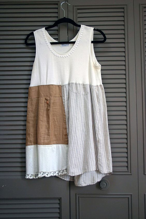 mori girl farmhouse west county dress tunic L XL by novelatelier, $44.00: