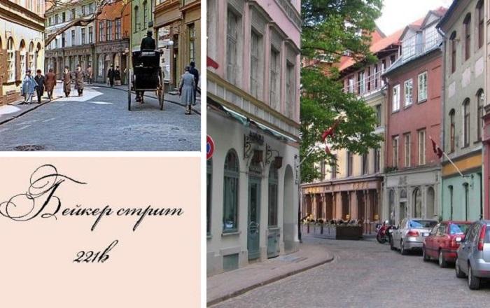 На ул. Яуниела были сняты основные эпизоды фильма. | Фото: dubikvit.livejournal.com.