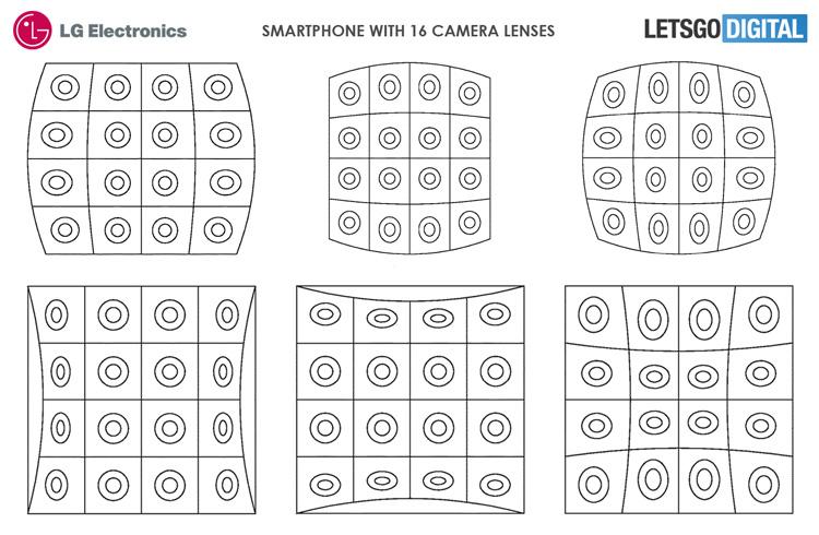 LG может выпустить смартфон с 16 задними камерами