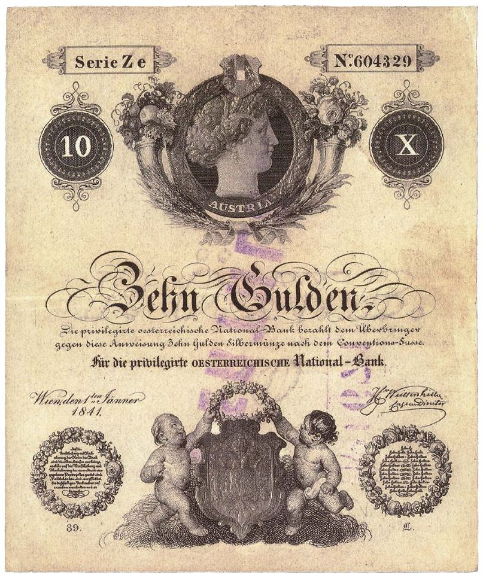 Банкноты Австро-Венгрии 1841-1866 гг.