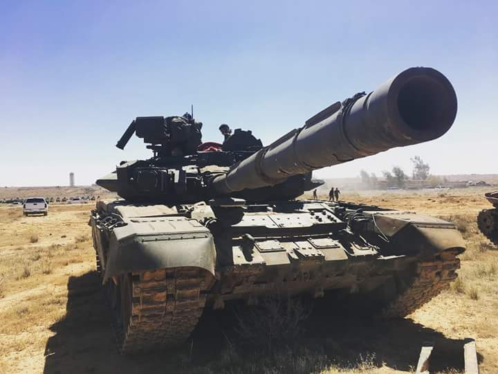 Работа Т-90 в Дераа