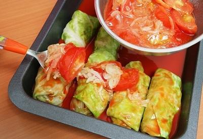 Голубцы с грибами. Традиционное блюдо постного стола еда,пища,рецепты, кулинария