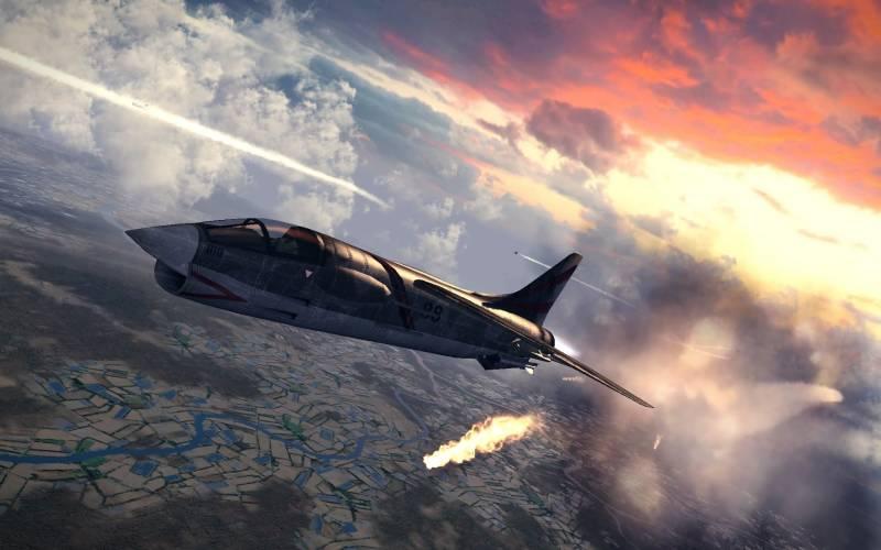 Палубный истребитель F-8 Cru…