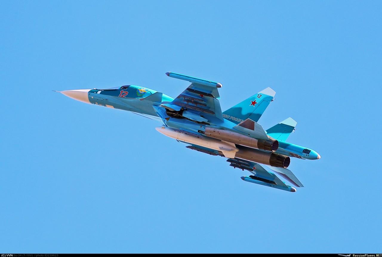 ВКС России переданы еще два фронтовых бомбардировщика Су-34