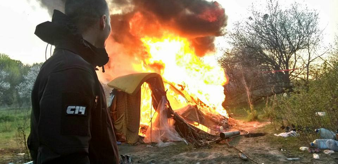 Цыганские погромы на Украине: первая кровь