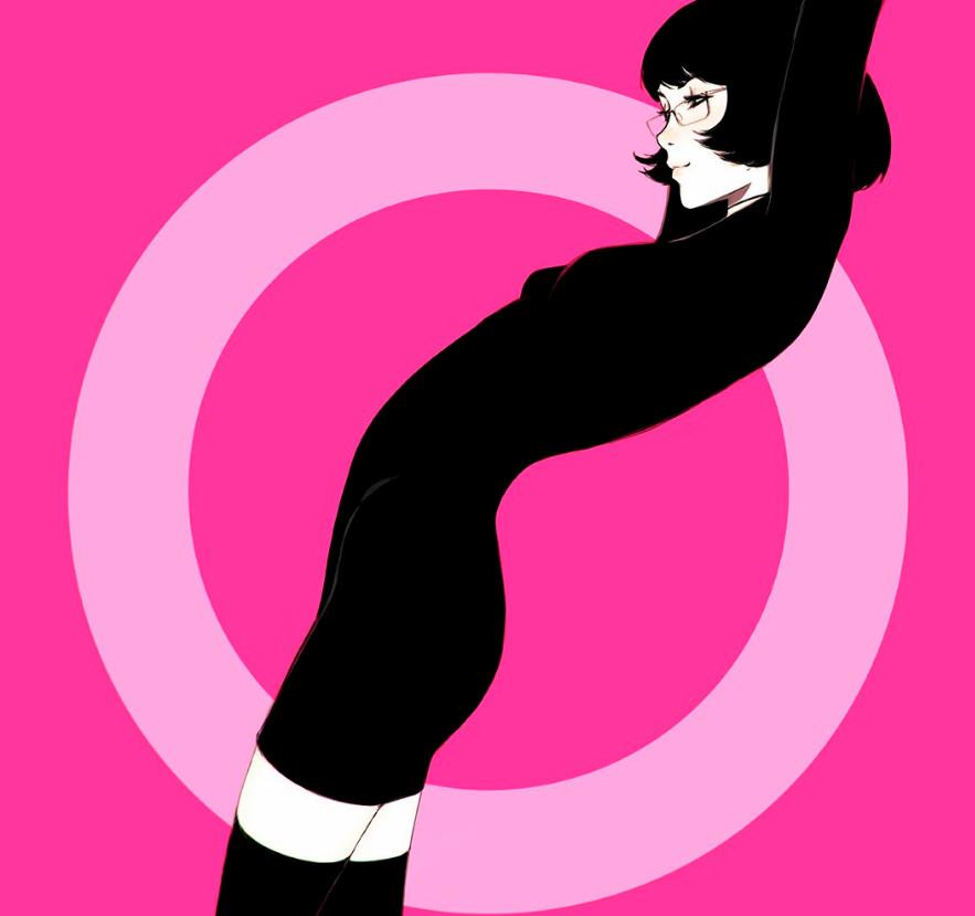 Женский образ на цифровом рисунке