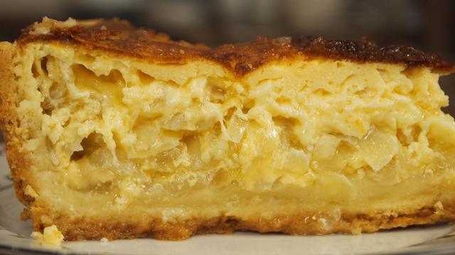Фото к рецепту: Сырно-луковый пирог