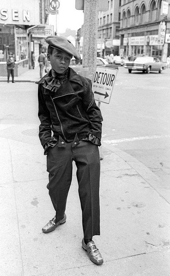Мальчик на улицах Бостона 1968