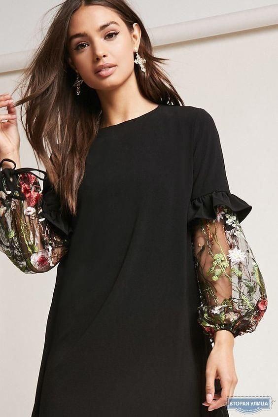 Платье и блуза  с рукавами из шифона
