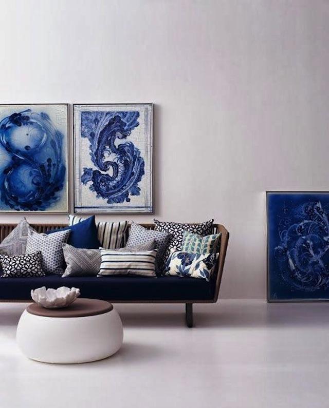 нашей картинки на стену для интерьера в синем тросовые