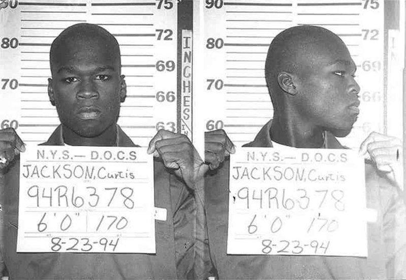 50 Cent. 1994 год. Торговля героином и кокаином. арест, звезды, полиция, правонарушение