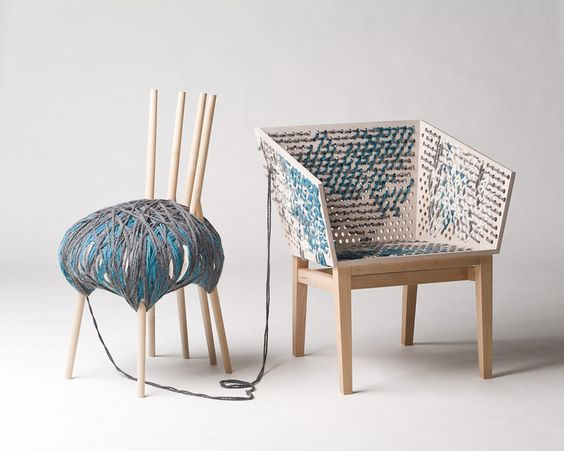 Вязаное кресло