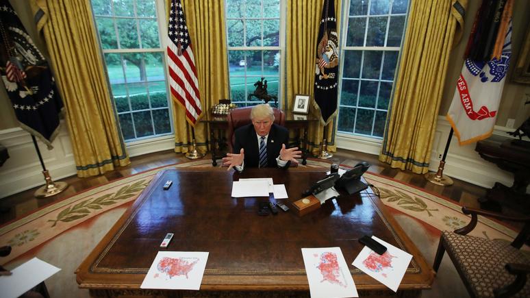 На радость врагам США Трамп …