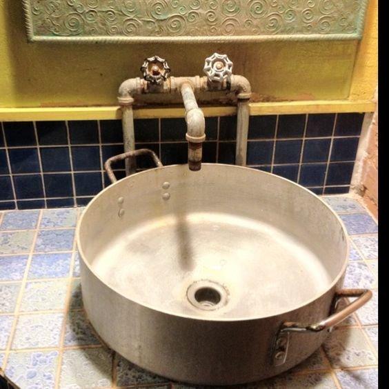 И кастрюли Фабрика идей, ванная, дизайн, сделай сам, тазики, фантазия