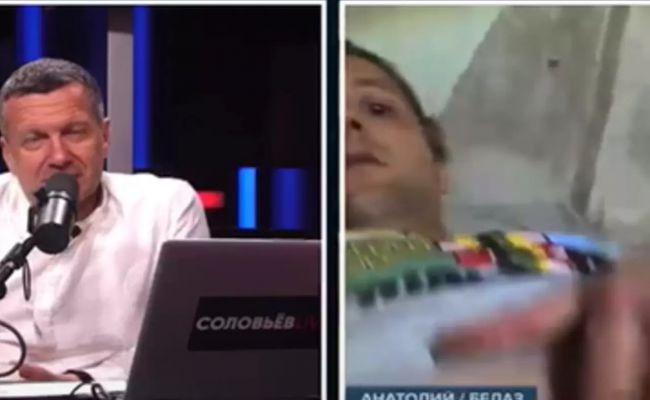 В ответ на вопрос «как дела?» рабочий с БелАЗа показал Соловьеву гениталии