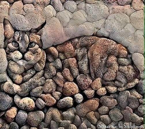 Замечательная работа из морских камешков! А Вам нравится?