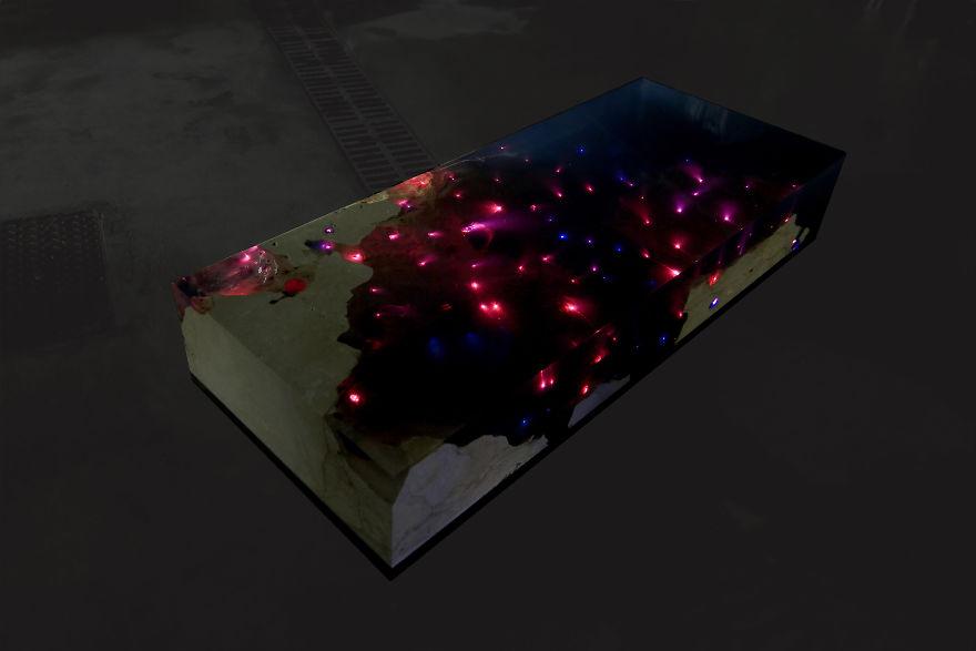 Столик «Звёздное море» – море днём и звёзды ночью