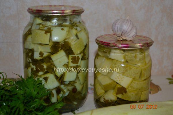 Рецепт консервированных кабачков с фото