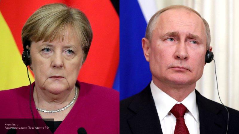 Появилось видео разговора Меркель и Путина на русском языке
