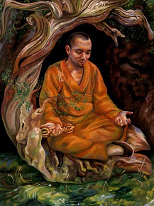 Кукай во время медитации
