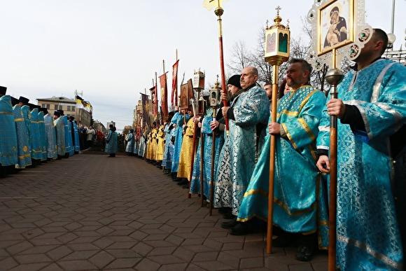Священники объехали Санкт-Петербург с иконой для избавления от «морового поветрия»