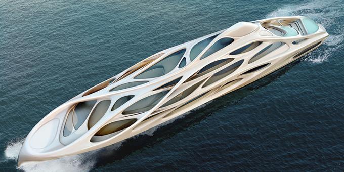 Супер-яхта от Zaha Hadid и Blohm + Voss