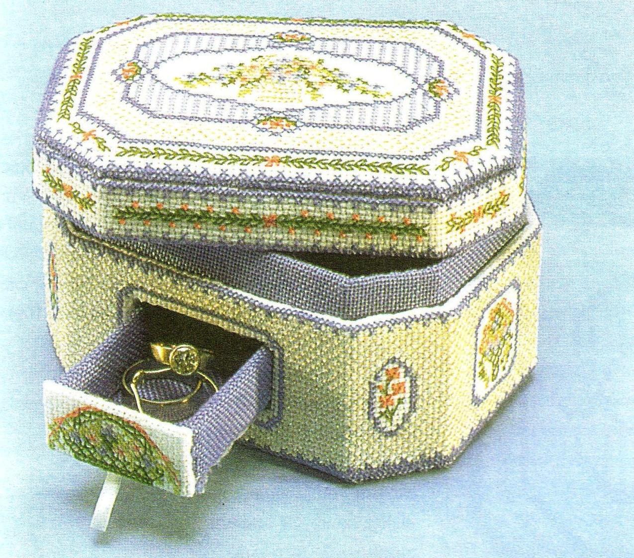 Схемы для вышивки крестом великолепной шкатулки