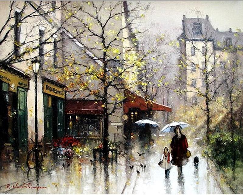 Под холодным дождём в этом городе старом... Художник Ramon Ward-Thompson
