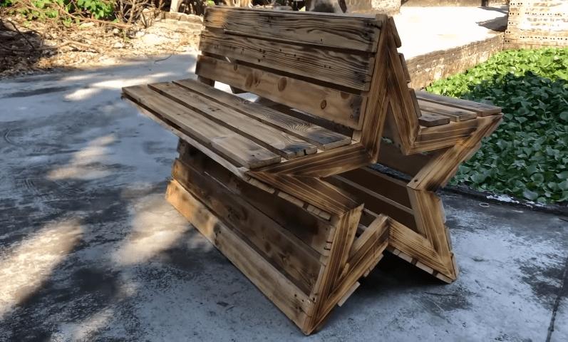 Оригинальная и функциональная скамейка из простых материалов интерьер,рукоделие,своими руками,сделай сам