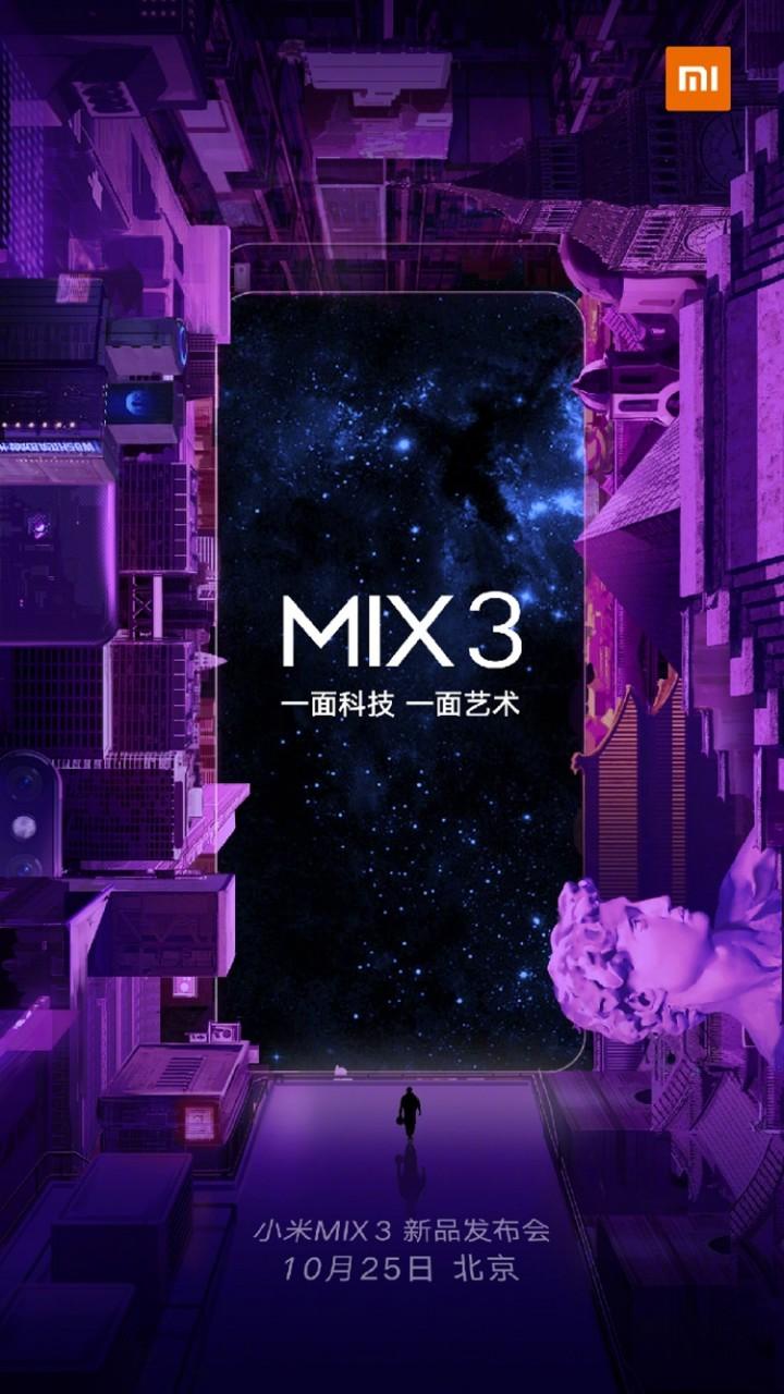 Смартфон Xiaomi Mi Mix 3 получит 10 Гбайт оперативной памяти