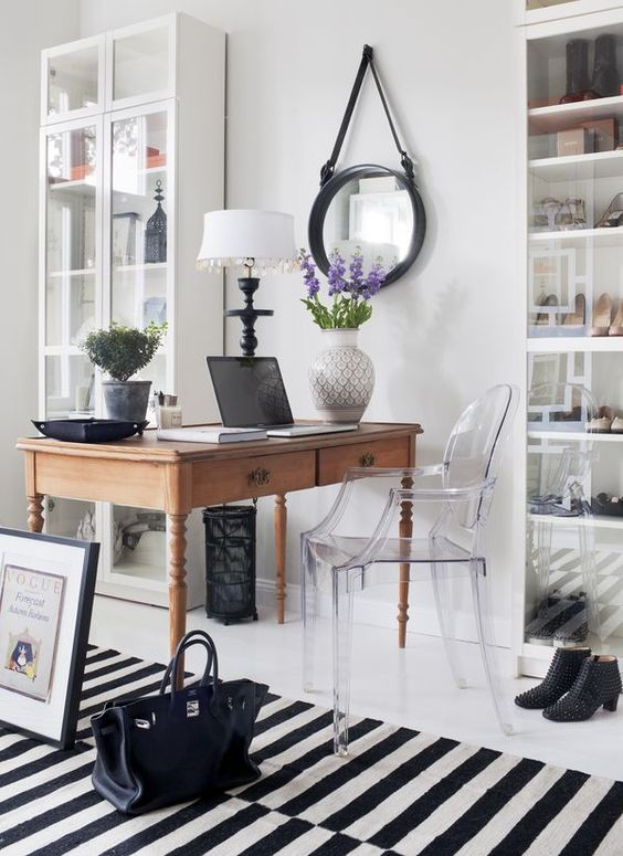 03 a lucite chair can easily fit almost any space from a home office to a dining room