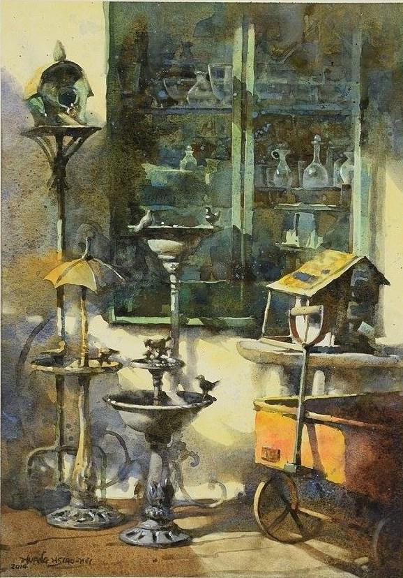 В жемчужной дымке городского утра... Художница Jasmine H. H. Huang