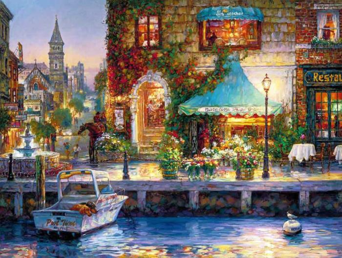 Художник Cao Yong. Сказочные улочки Европы