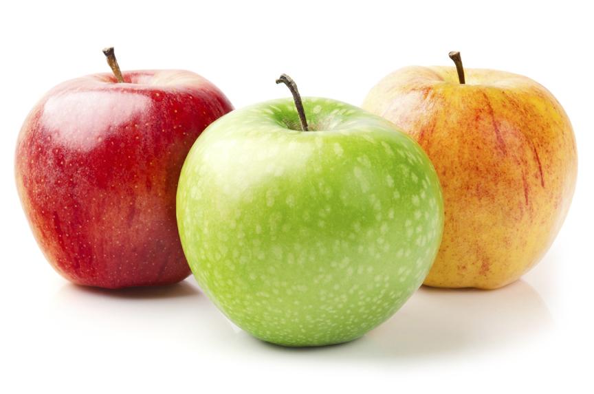 Картинки яблоки зеленые и желтые