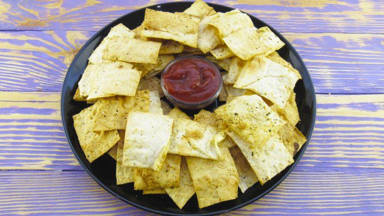 Готовлю эти чипсы часто: полезно, просто и быстро! вкусно,рецепты,чипсы из лаваша