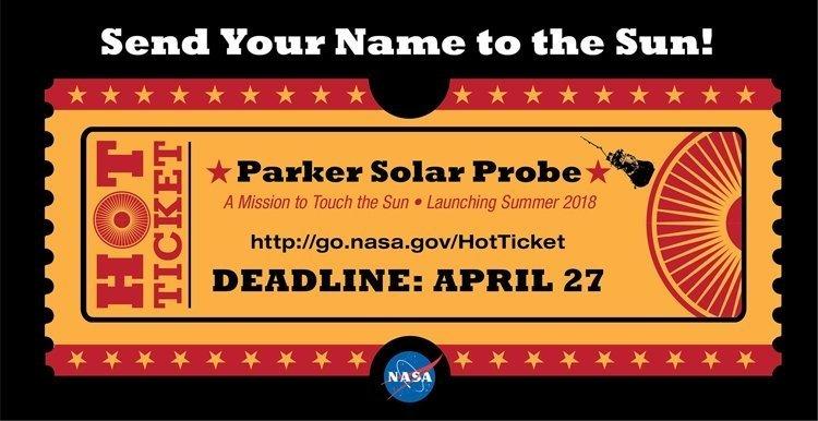 NASA предлагает желающим отправить свои имена к Солнцу nasa, гламур, космос, солнце