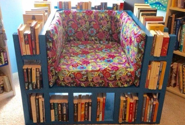 2. Каким вы себе представляли кресло для чтения? Вот таким оно должно быть у заядлого книголюба книги, книголюбы, крутые вещи, способы хранения, фото, чтение