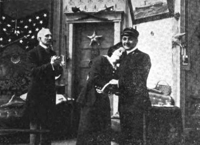 Кадр из первого фильма о гибели «Титаника».