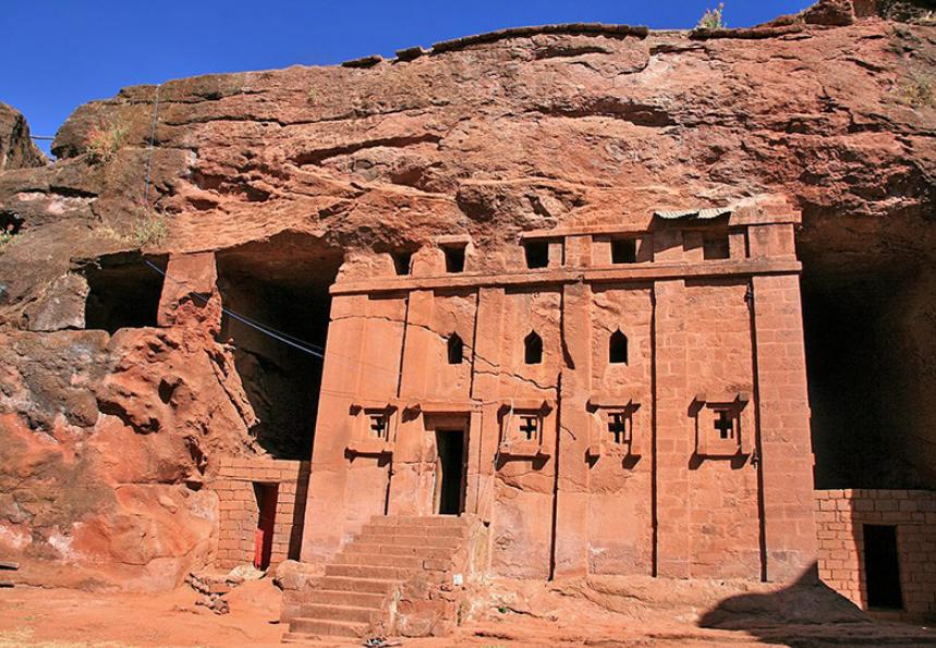 храм Ливаноса в Лалибэле Эфиопия