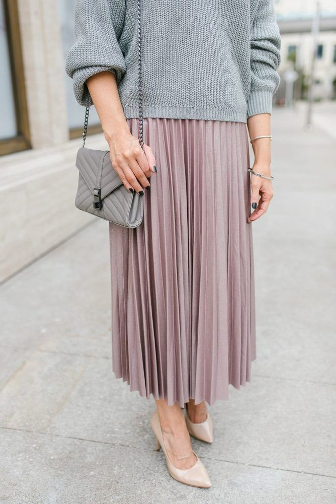 Утепляемся к осени: 35 образов с длинной юбкой или платьем, фото № 7