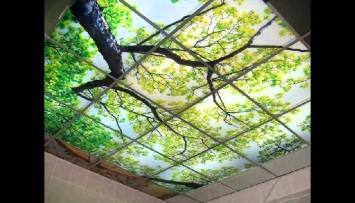 Визуально раздвинуть потолок можно с помощью 3D эффекта.