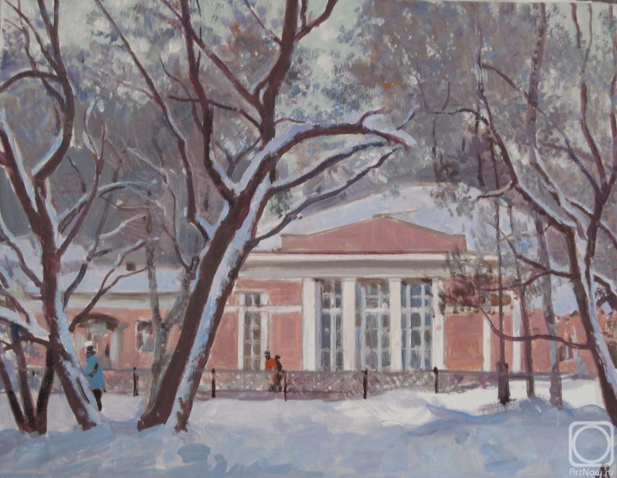 Картина маслом на холсте. Лаповок Владимир. Усадьба Воронцово.Зима